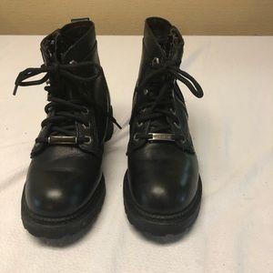 Harley Davidson Women's Black Leather Boots